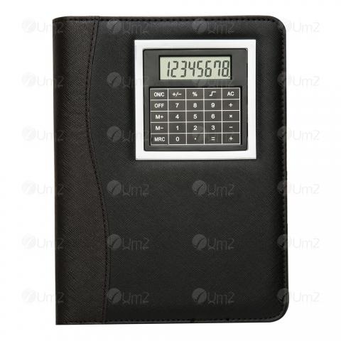 Bloco de Anotações com Calculadora e Caneta