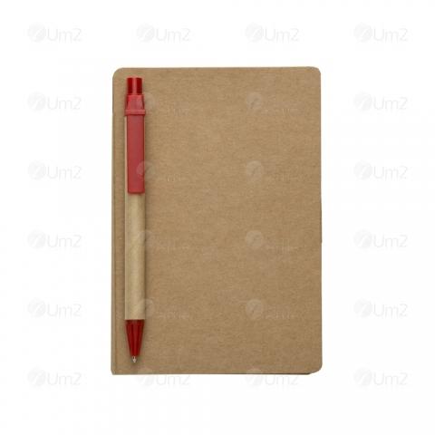 Bloco de Anotações com Caneta e Post-it