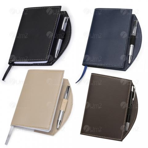 Caderneta tipo Moleskine com Caneta
