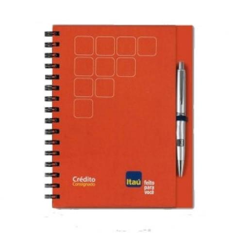 Caderno com Porta Cadena