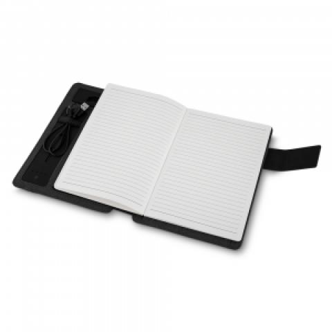 Caderno com Power Bank