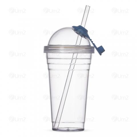 Copo Plástico 40ml com Canudo