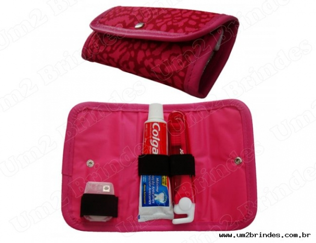 Kit Higiene em Couro Ecológico