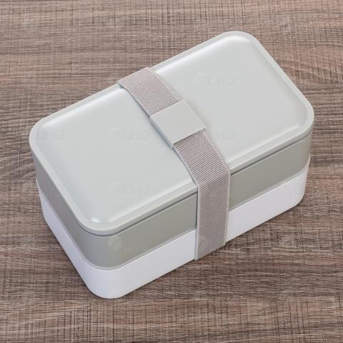 Marmita Plástica de 2 Compartilhamentos e Talheres