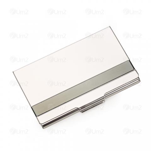 Porta Cartão de Aço Inox