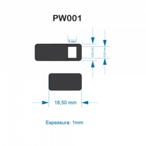 Protetor para Webcam 1,8 x 0,9cm
