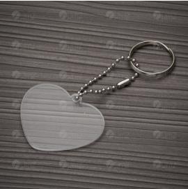 Chaveiro Plástico Coração
