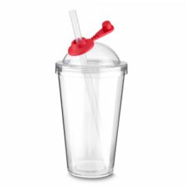 Copo Plástico com Canudo