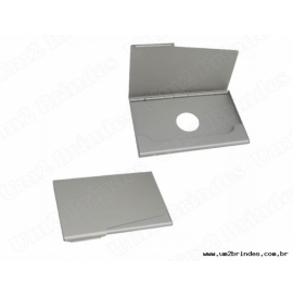 Porta Cartão Alumínio com Furo